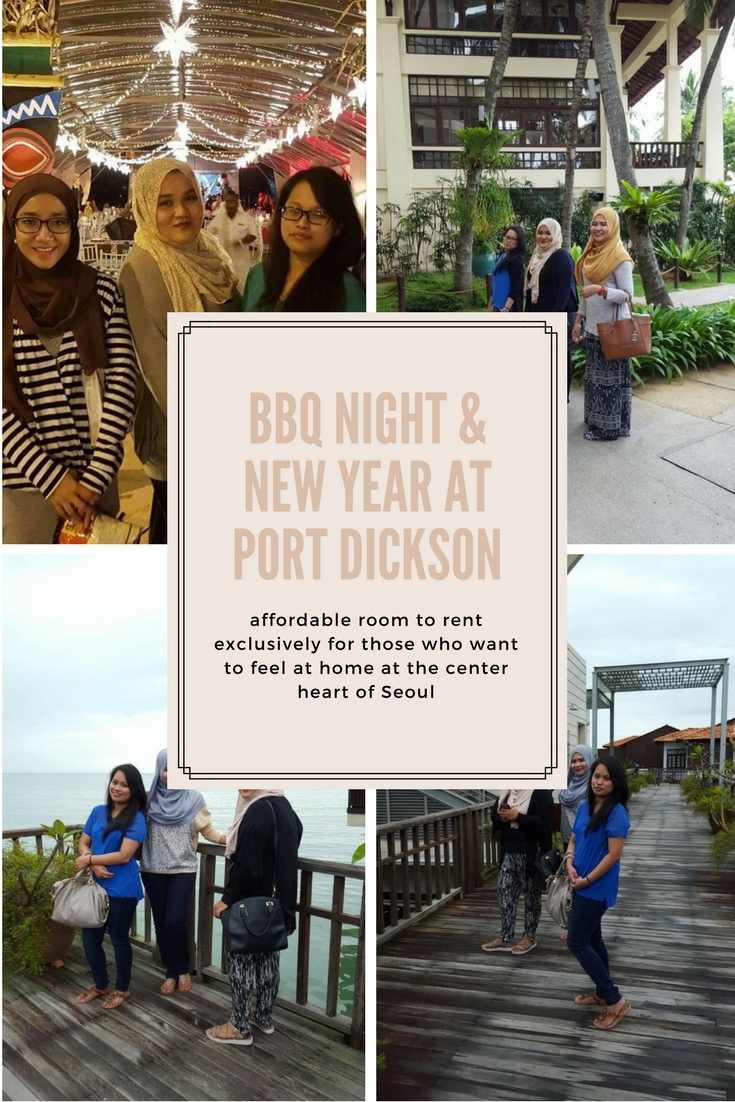 To end up my 2015, I have planned to celebrate new year at Port Dickson. Why Port Dickson? Because we found a good and cheap stay at Avillion Water Chalet month before and plan to have BBQ night together with my girls.