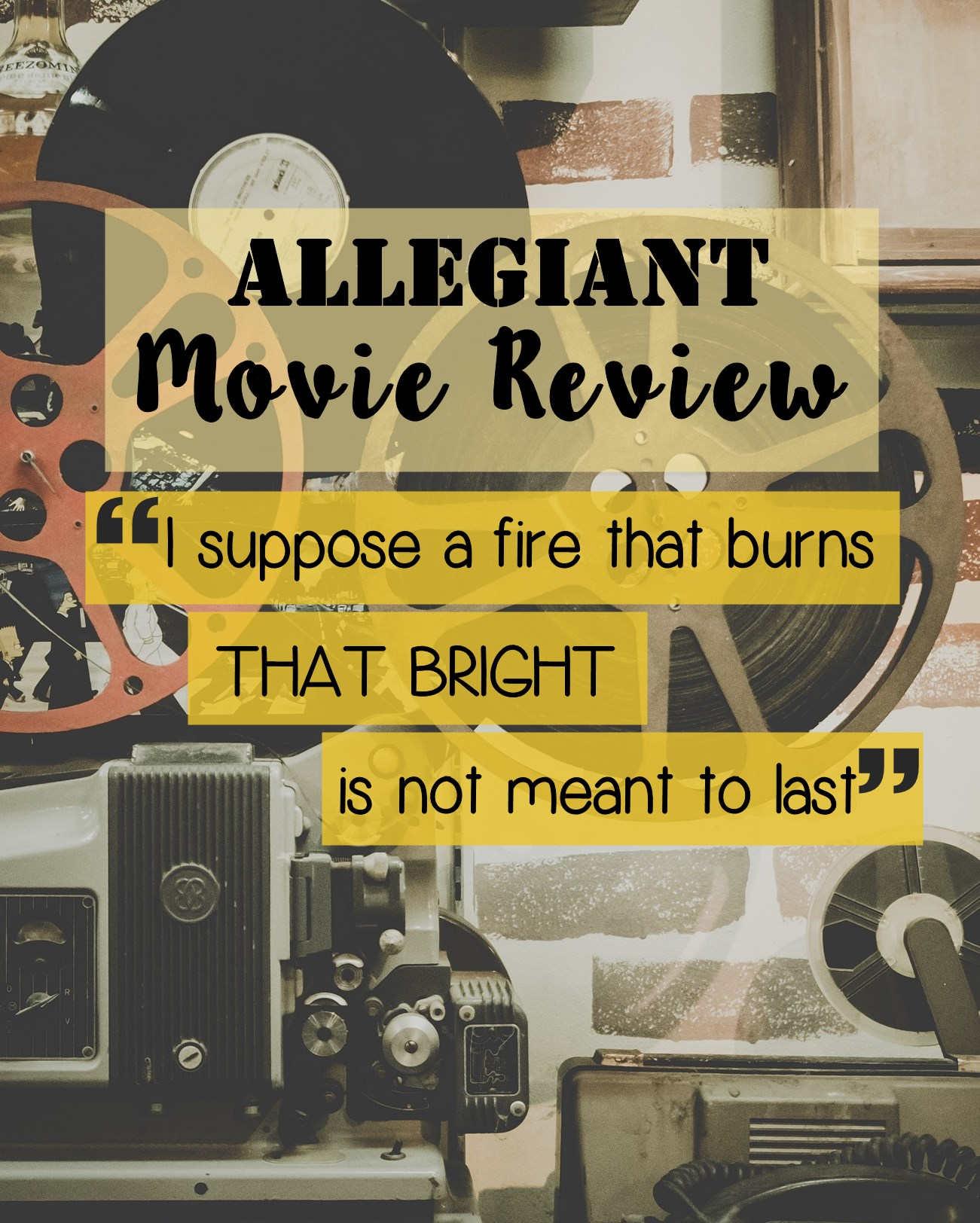 Allegiant Review; SPOILER alerts!
