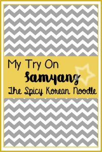 Try On Spicy Korean Noodle