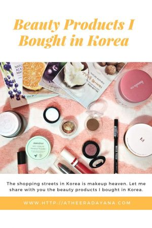 The shopping streets in Korea is makeup heaven for me. Though it wasn't that much that I bought, but let me share with you the beauty products I bought in Korea.