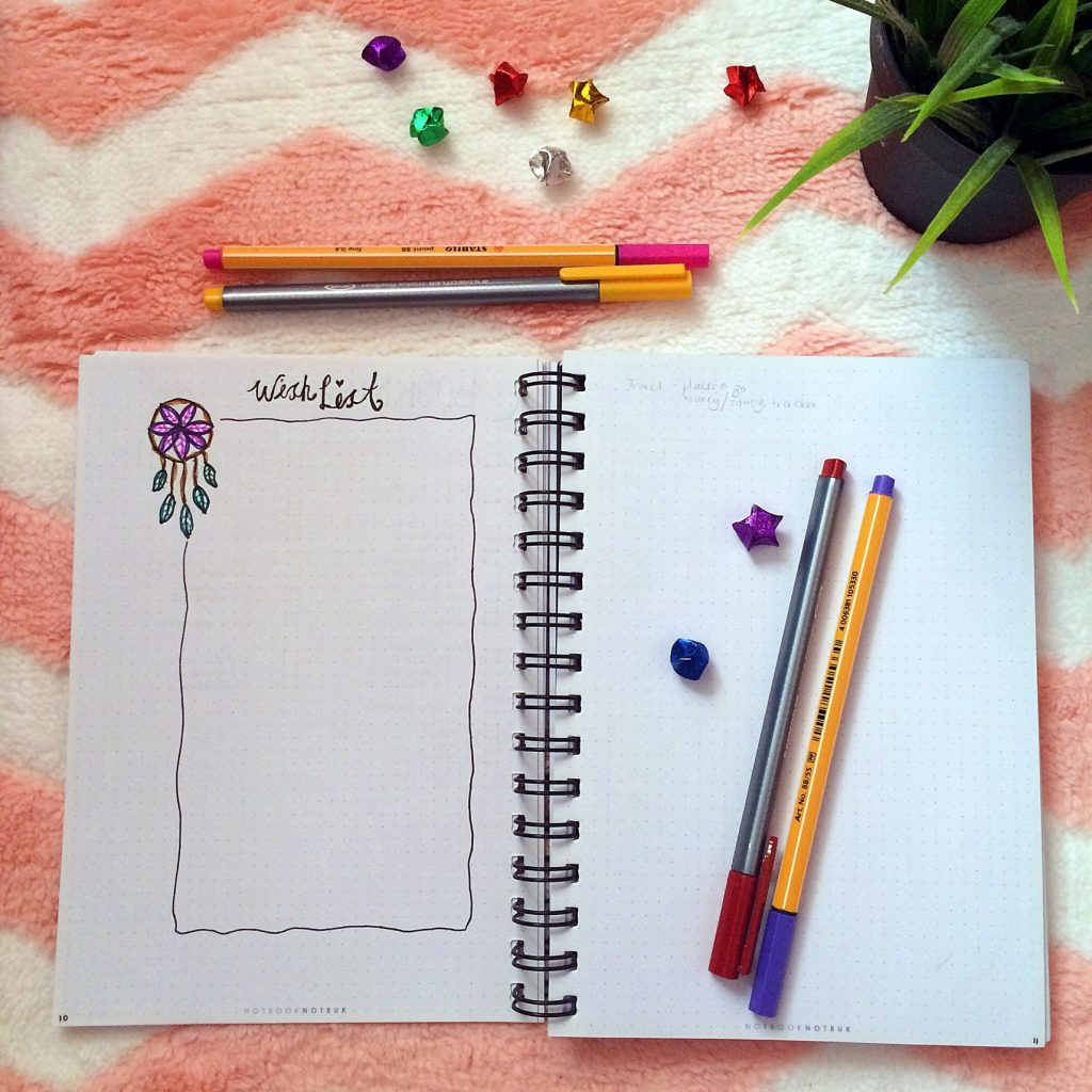 bullet-journal-wishlist-page
