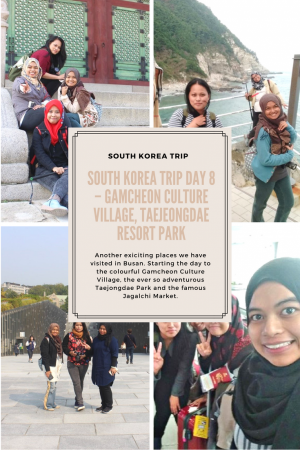 Another exciting places we have visited in Busan. Starting the day to the colourful Gamcheon Culture Village, the ever so adventurous Taejongdae Park and the famous Jagalchi Market.