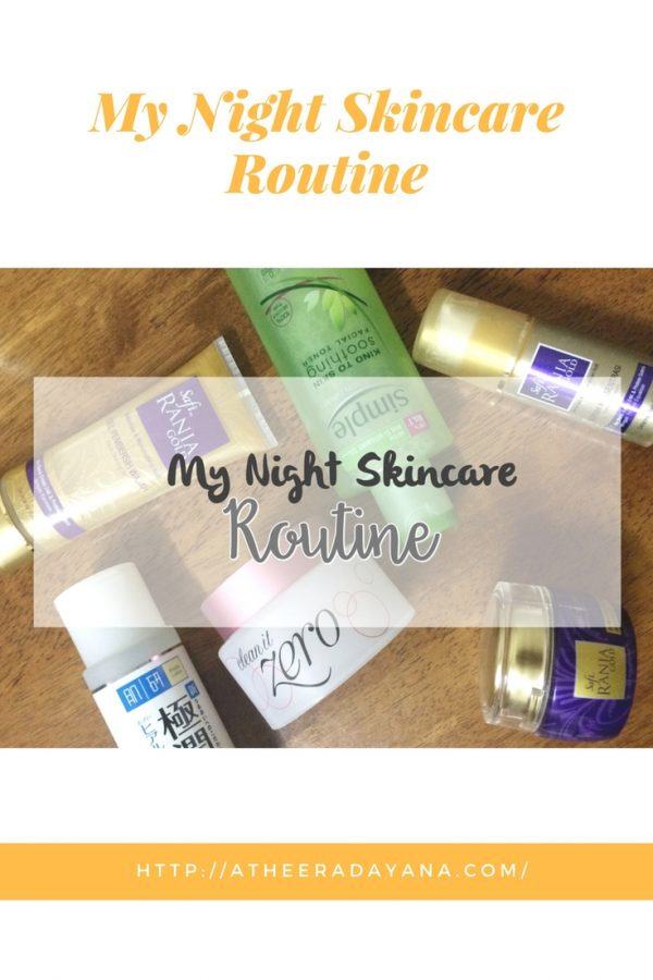Night skincare is important as your skin will 'work' during your sleep to improve the cells. Having a clean face and applying a moisturizer before you sleep is so important. Did is how I 'treat' my skin at night.